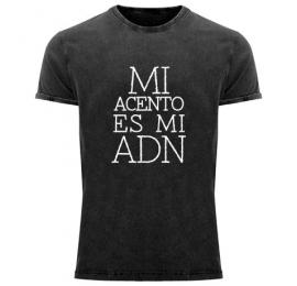 Camiseta negra MI Acento es mi ADN