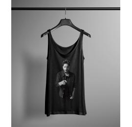 Camiseta negra tirantes Manuel Carrasco